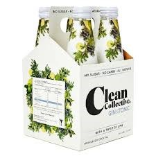 Clean collective gin & tonic 4pk 300 ml Clean collective gin & tonic 4pk 300 ml