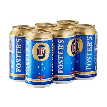 FOSTERS 6PK 375ML CAN FOSTERS 6PK 375ML CAN